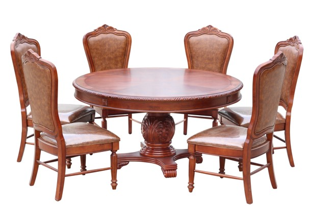 Villa 7piece Round Dining Room Suite Limewash New Home Furnishers